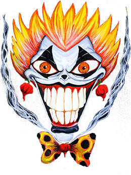 Klowns on Fire BBQ Hot Sauces logo